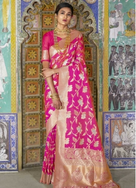 Handloom Silk Thread Work Traditional Saree