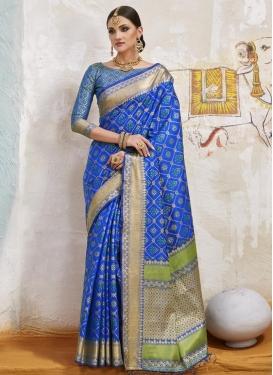 Handloom Silk Thread Work Trendy Saree
