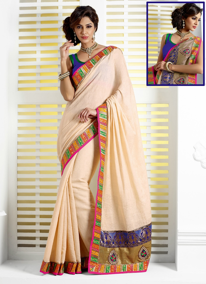 Haute Cotton And Jacquard Party Wear Saree