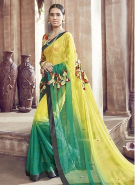Haute Faux Chiffon Trendy Saree For Casual