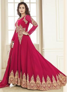 Haute Faux Georgette Booti Work Dia Mirza Floor Length Designer Salwar Suit