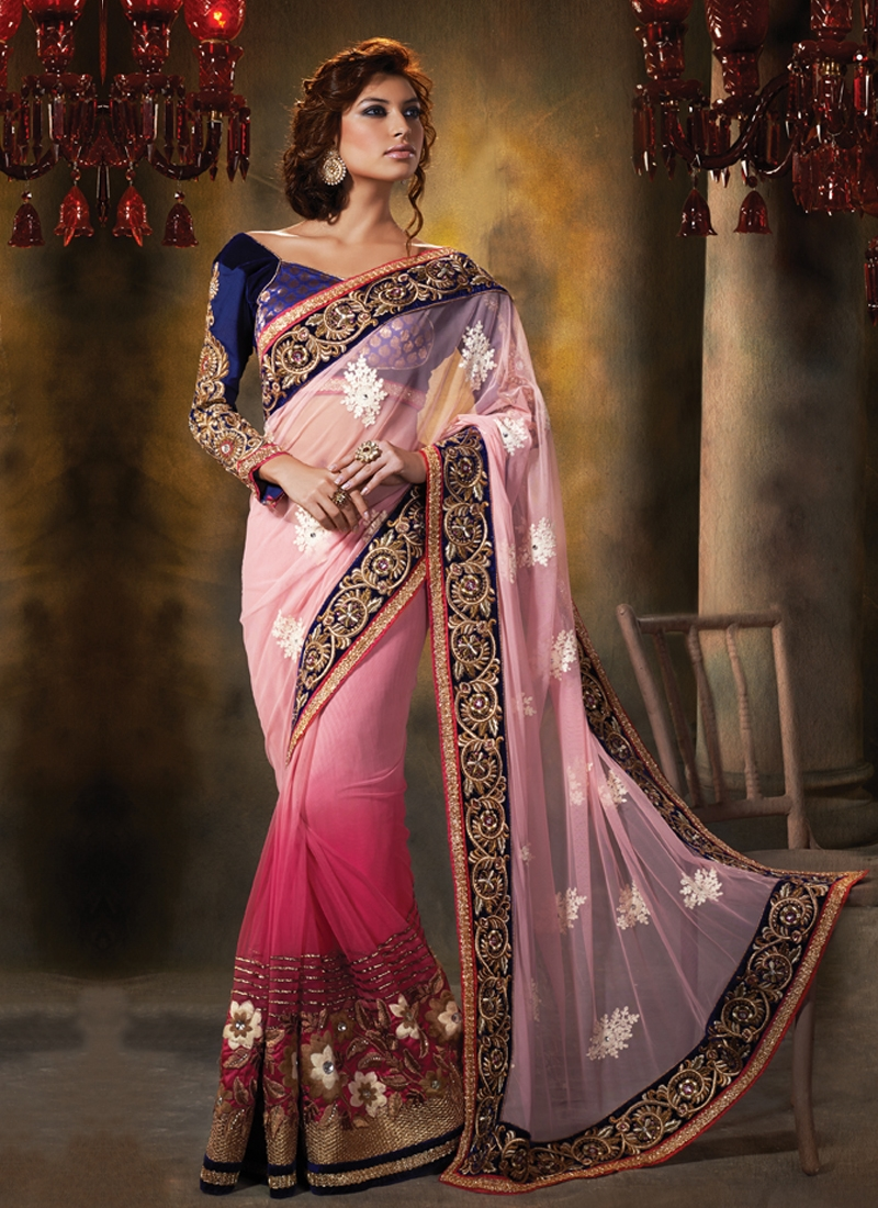 Haute Floral And Stones Work Designer Saree
