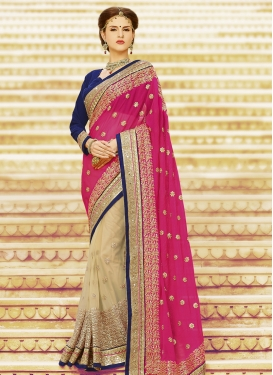 Haute Jaal And Sequins Work Half N Half Wedding Saree