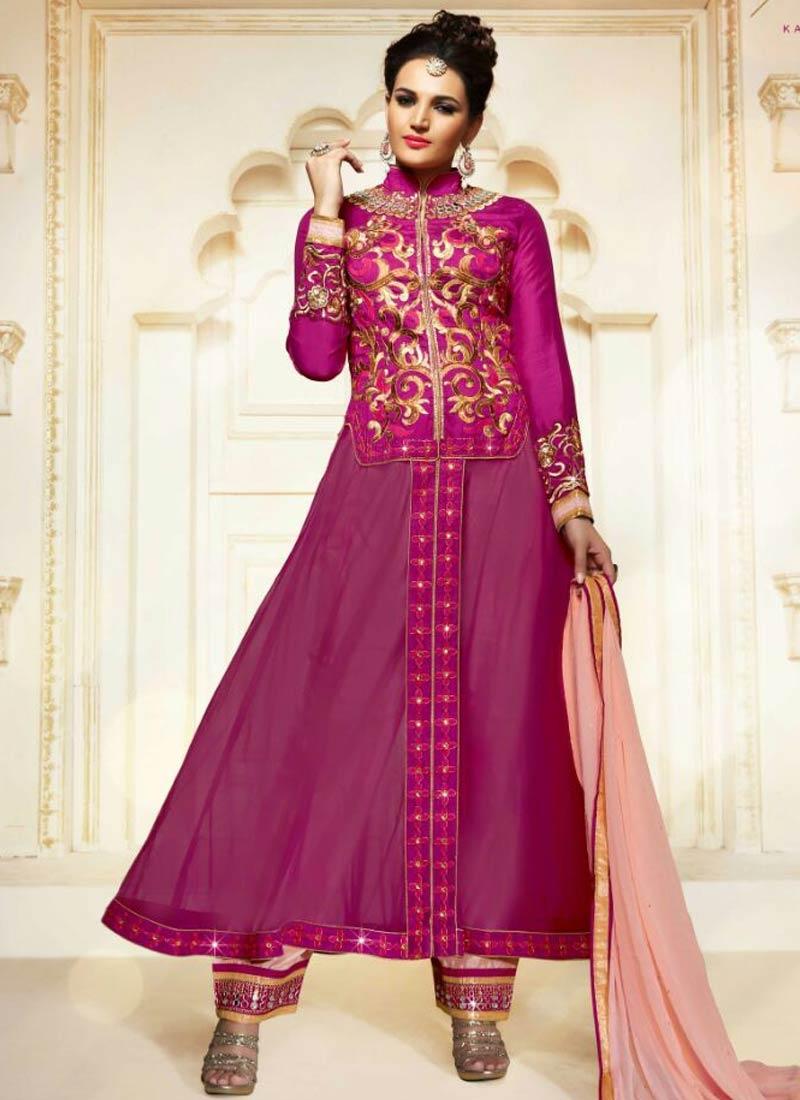 Haute Mirror Work Jacket Style Designer Salwar Suit