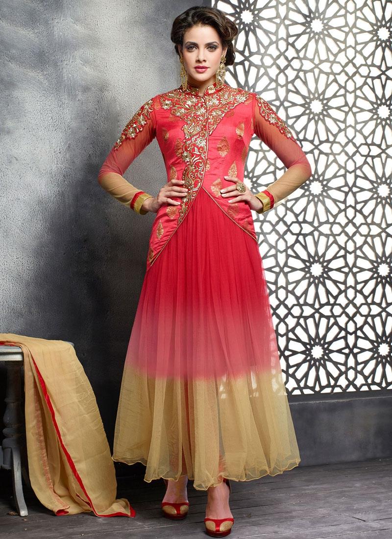 Haute Net Jacket Style Designer Salwar Suit