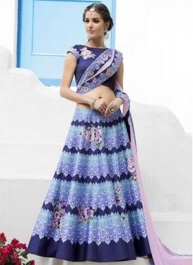 Heavenly Digital Print Work Silk Trendy A Line Lehenga Choli