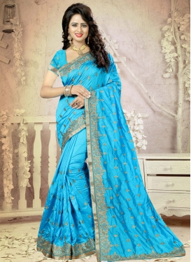 Heavenly Embroidered Work  Traditional Saree