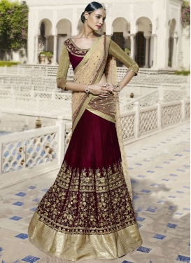 Heavenly Embroidery Work Wedding Lehenga Choli