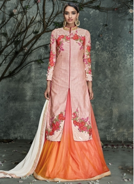 Heavenly Floral Work Kameez Style Designer Lehenga Choli