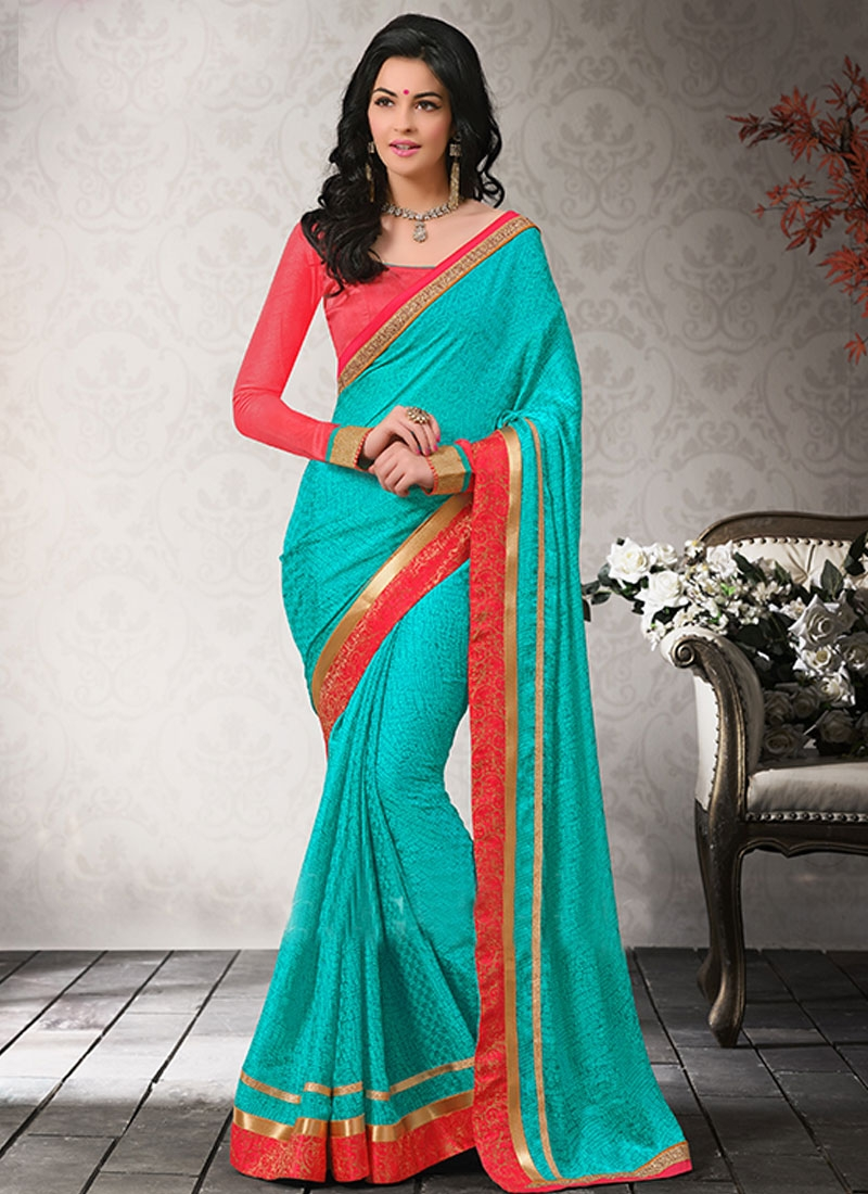 Heavenly Lace Enhanced Chiffon Casual Saree