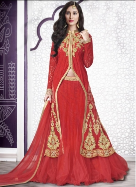 Heavenly Net Booti Work Designer Long Choli Lehenga