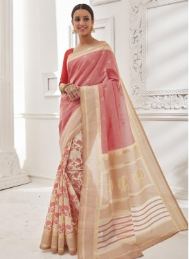 Heavenly Resham Work  Brasso Georgette Trendy Saree