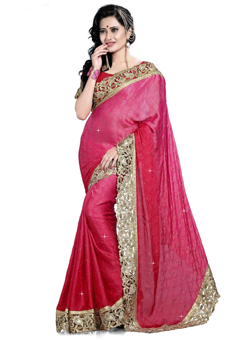 Heavenly Resham Work Designer Saree
