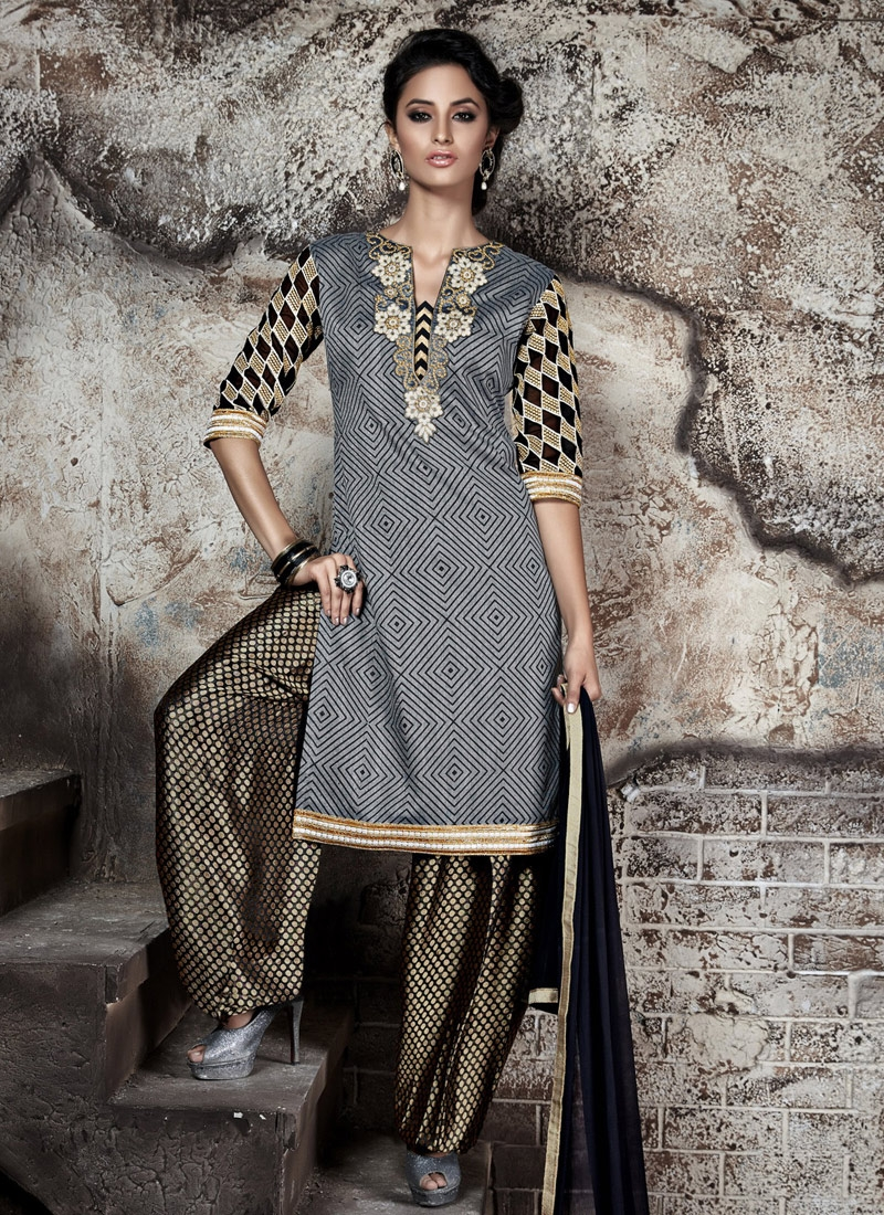 Heavenly Resham Work Patiala Style Punjabi Salwar Kameez