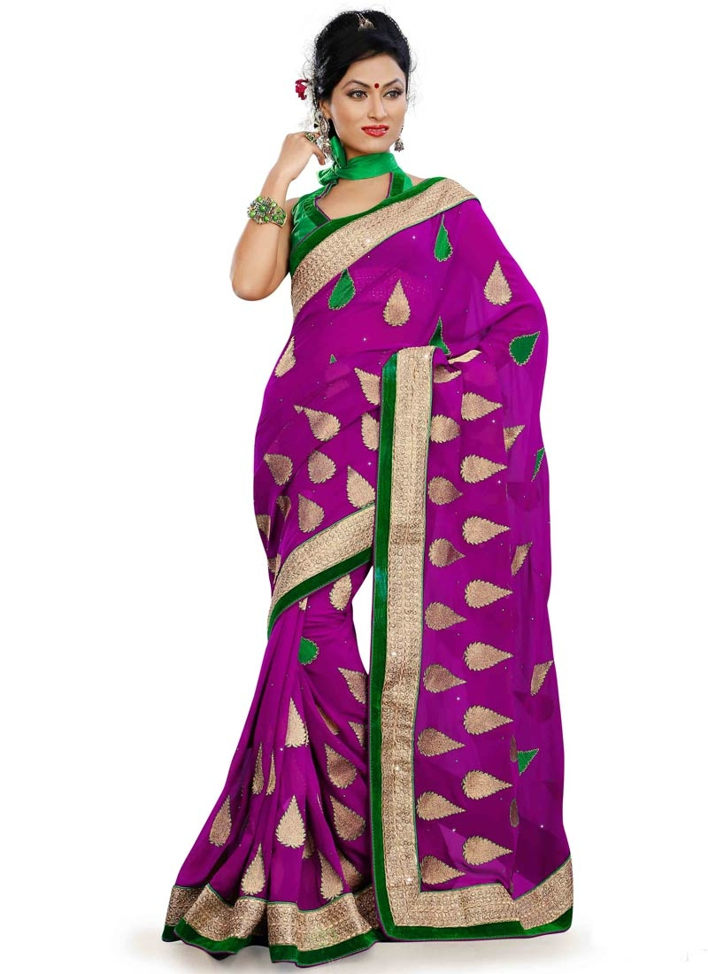 Heavenly Stone And Multi Work Party Wear Saree