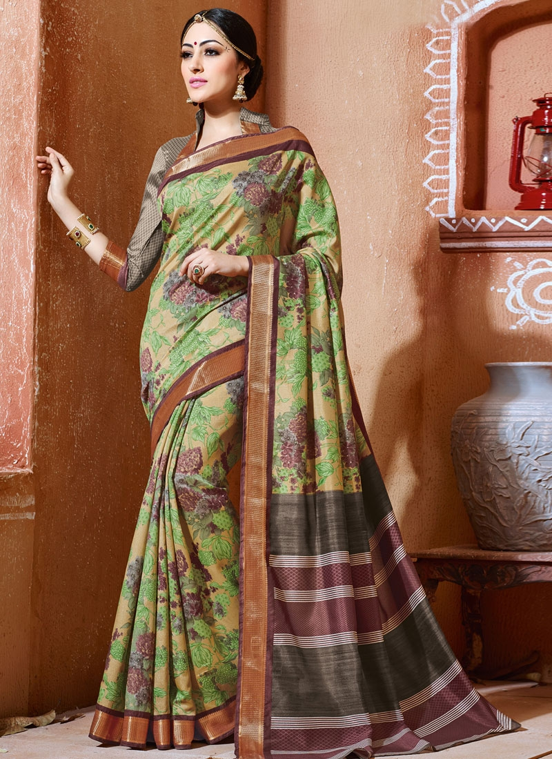 Honourable Beige Color Art Silk Casual Saree