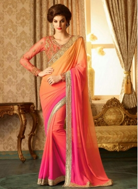 Honourable Embroidered Work  Classic Saree