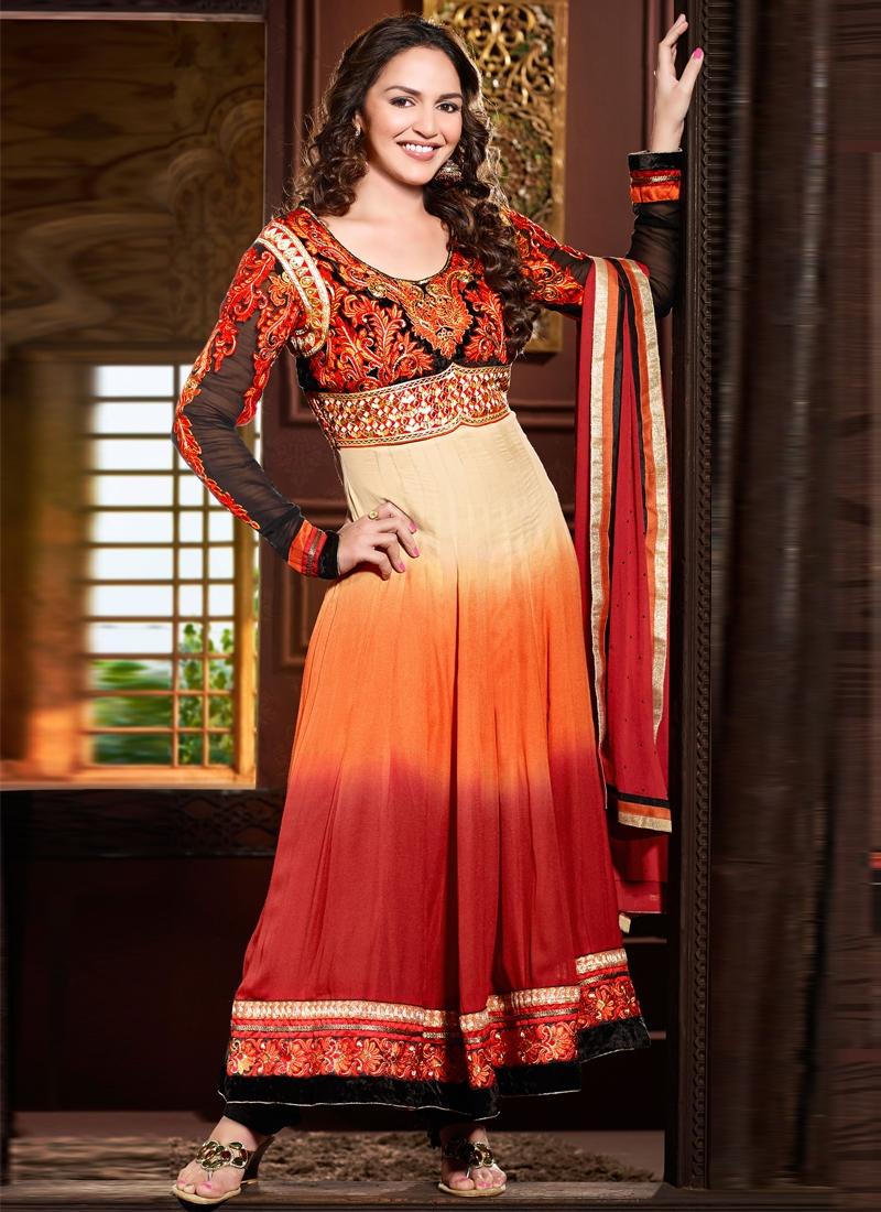 Honourable Esha Deol Georgette Bollywood Suit