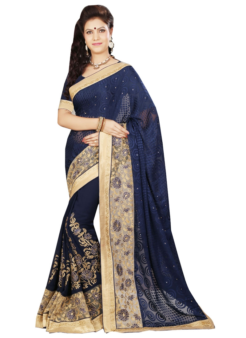 Honourable Patch Border Work Designer Saree