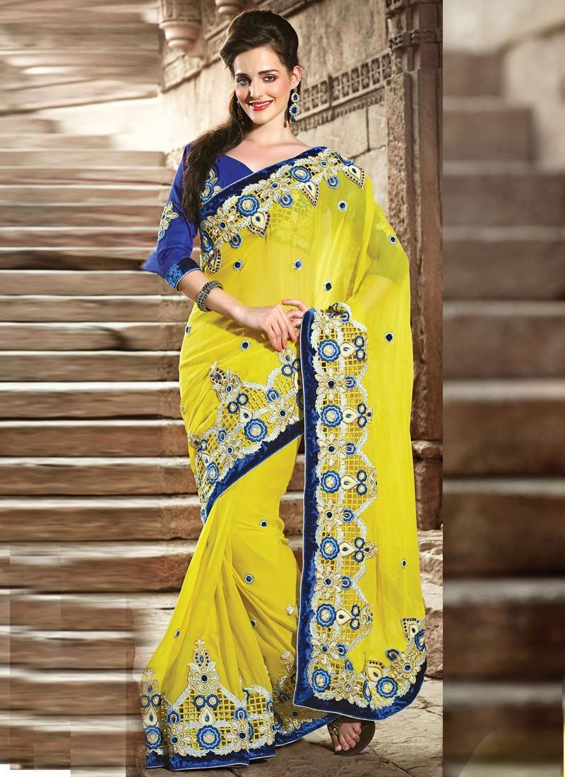 Honourable Velvet Enhanced Wedding Saree