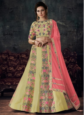 Hot Pink and Mint Green  Designer Classic Lehenga Choli