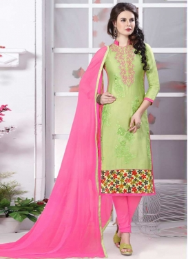 Hot Pink and Mint Green Pant Style Straight Suit For Festival