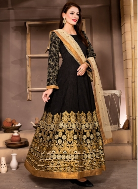 Hypnotic Black Color Ankle Length Designer Suit