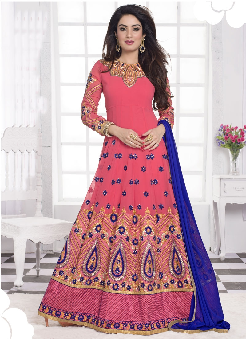 Hypnotic Booti Work Long Length Designer Salwar Suit