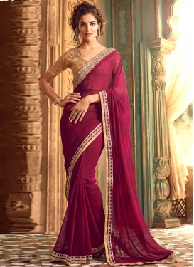 Hypnotic Embroidered Work Designer Contemporary Saree For Ceremonial