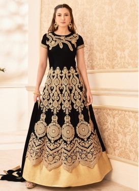 Hypnotic Gauhar Khan Faux Georgette Long Length Trendy Anarkali Suit For Party