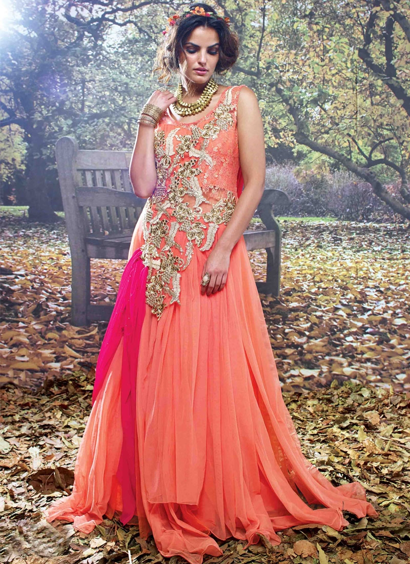 Hypnotic Sequins And Beads Work Designer Readymade Gown