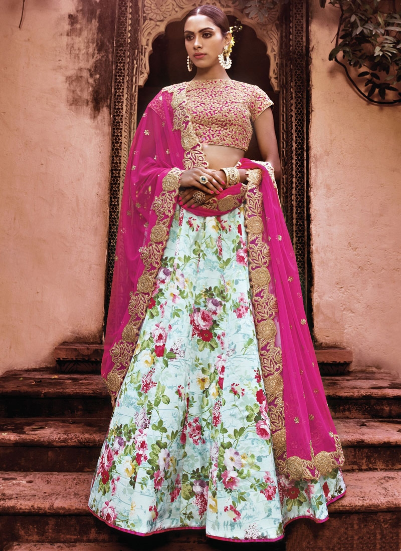Hypnotizing Digital Print Work Designer Lehenga Choli