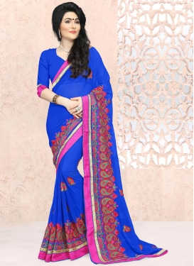 Hypnotizing Faux Georgette Trendy Saree