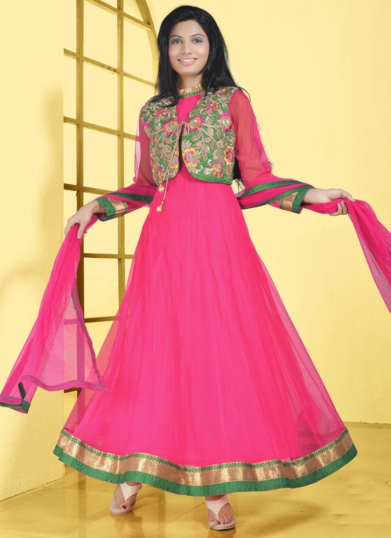 Hypnotizing Jacket Style Party Wear Salwar Kameez