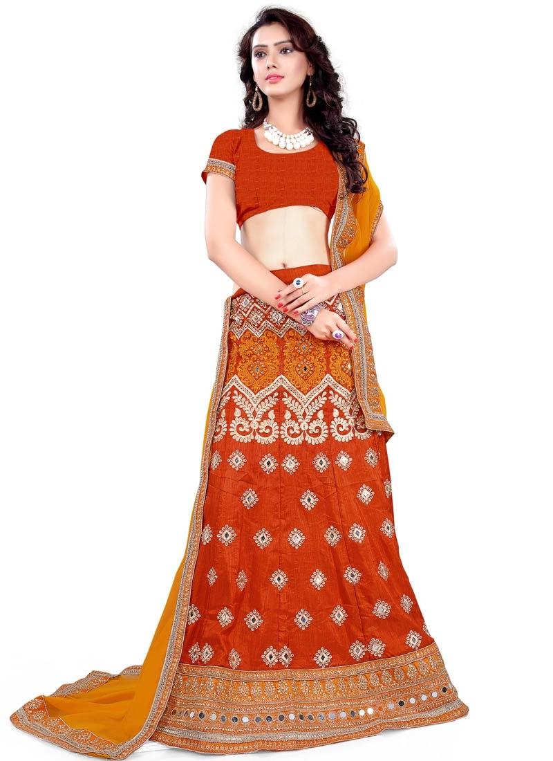 Hypnotizing Mirror Work Wedding Lehenga Choli