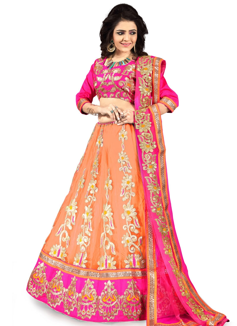 Hypnotizing Patch Border Work Net Designer Lehenga Choli