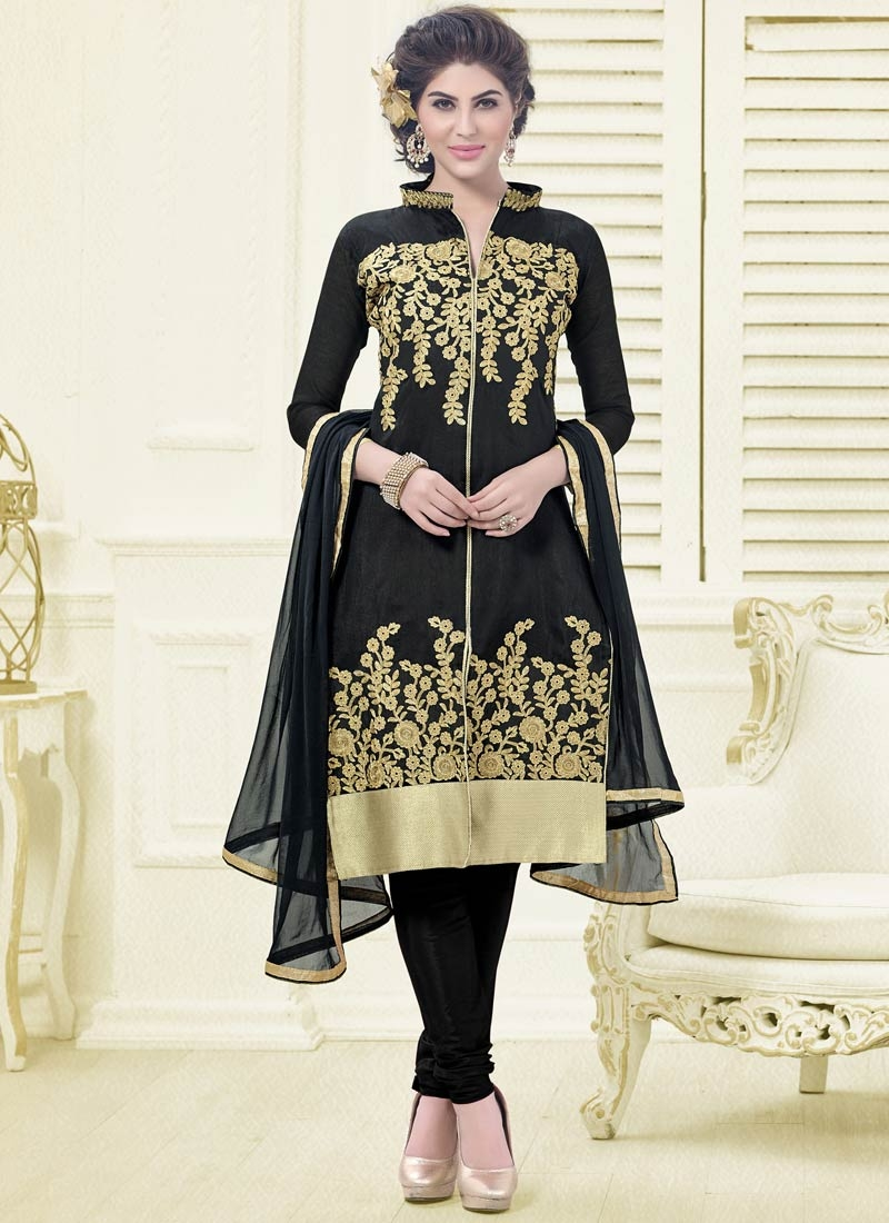 Ideal Black Color Casual Salwar Kameez