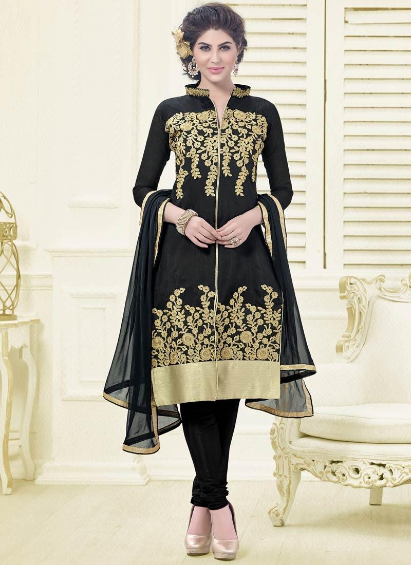 Ideal Black Color Casual Salwar Kameez