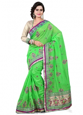 Ideal Chanderi Silk Stone Work Designer Saree