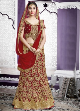 Immaculate  A - Line Lehenga For Bridal