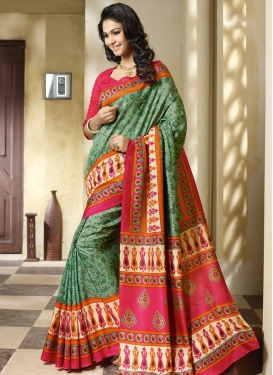 Immaculate Art Silk Printed Casual Saree