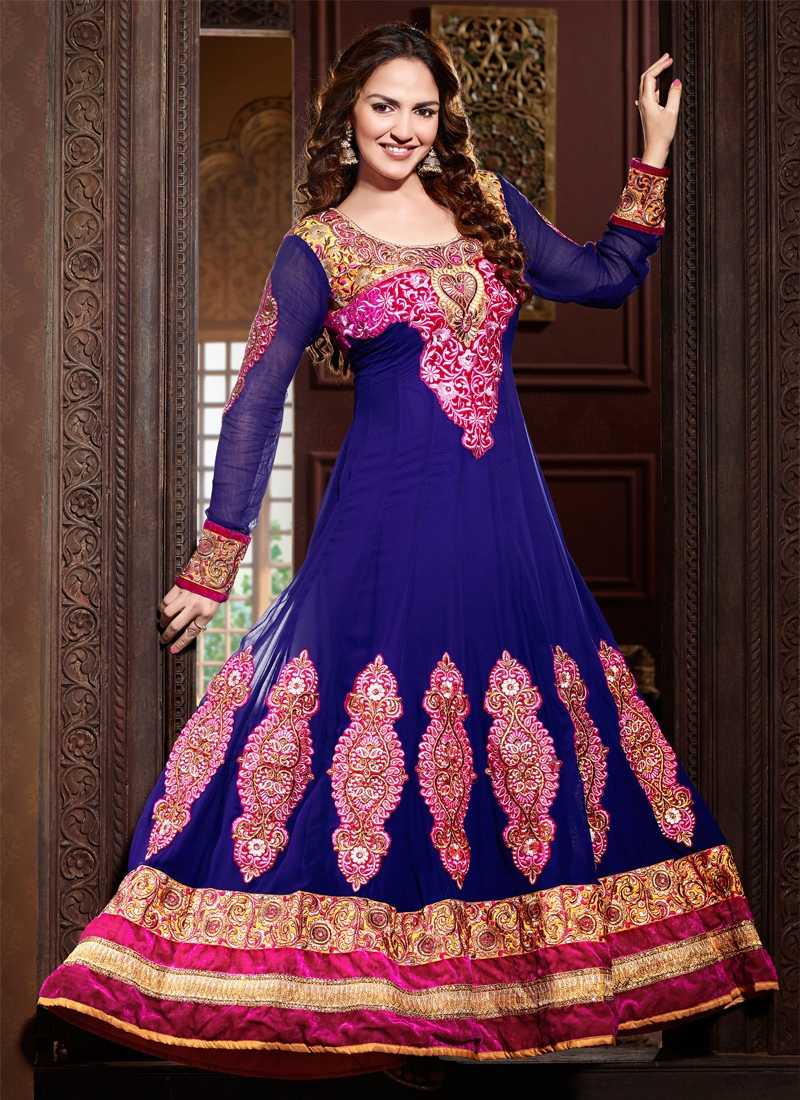 Immaculate Blue Color Esha Deol Bollywood Suit
