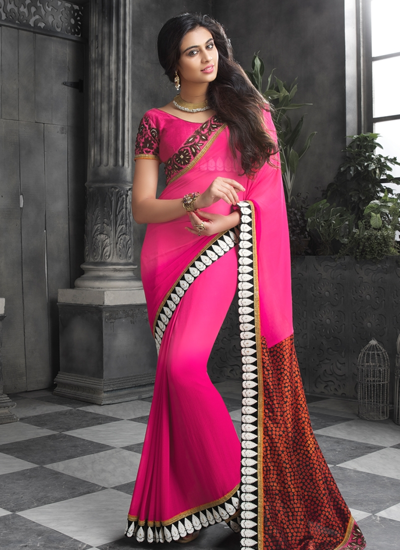 Immaculate Faux Georgette Party Wear Saree