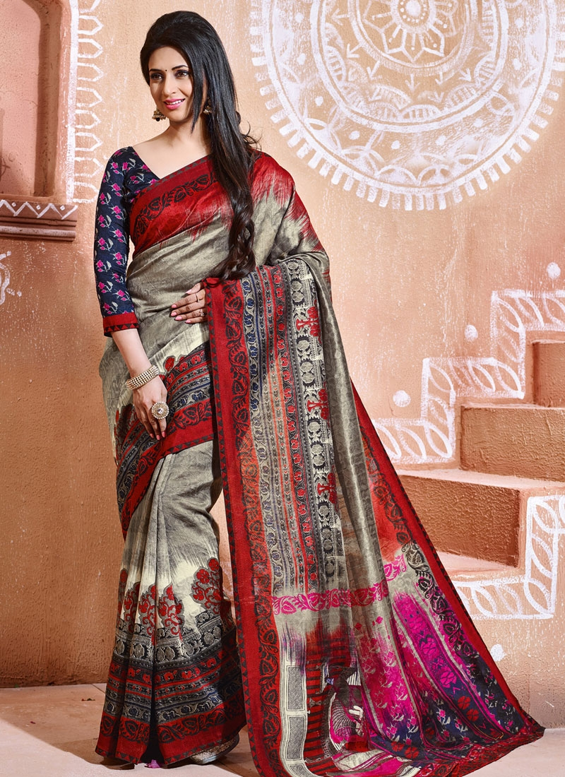 Immaculate Printed Divyanka Tripathi Casual Saree