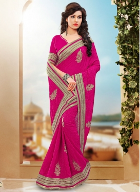 Immaculate Pure Georgette Beads Work Designer Saree