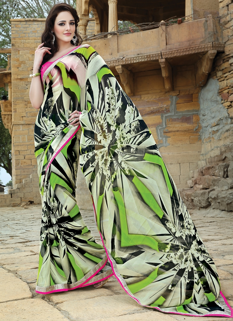 Immaculate Pure Georgette Party Wear Saree