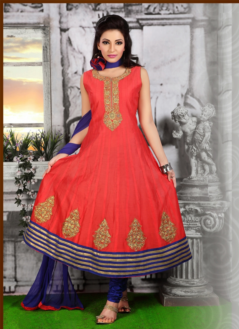 Immaculate Red Color Readymade Salwar Kameez