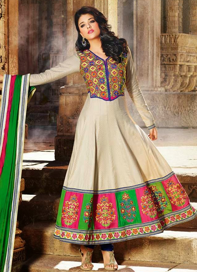Immaculate Resham Work Party Wear Salwar Suit