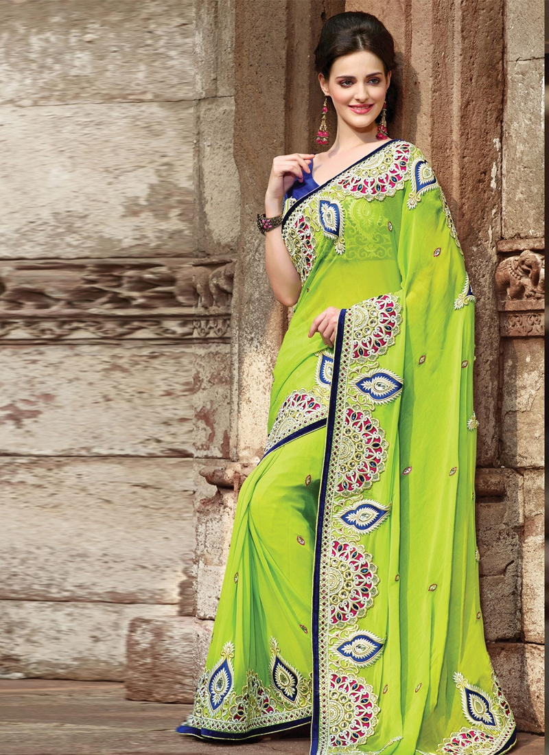 Immaculate Stone Enhanced Party Wear Saree