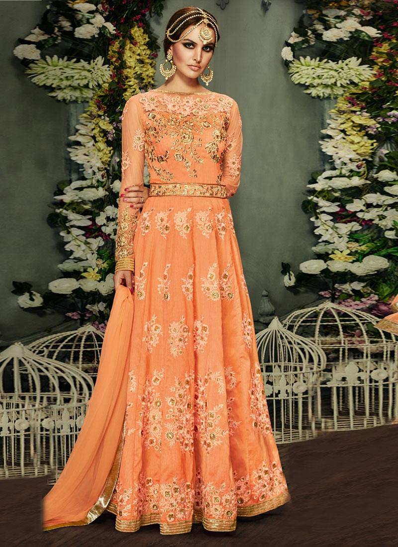 Impeccable Booti And Sequins Work Floor Length Wedding Salwar Suit